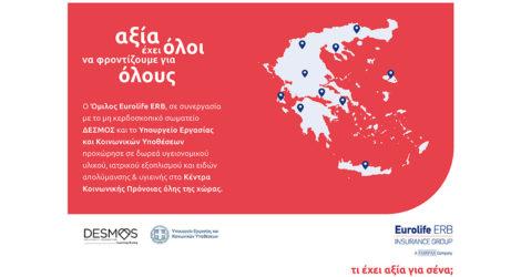 Ο όμιλος Eurolife ERB στηρίζει τα Κέντρα Κοινωνικής Πρόνοιας σε όλη την Ελλάδα