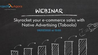 Webinar: Εκτοξεύστε τις πωλήσεις του ηλεκτρονικού σας καταστήματος με το Native Advertising (Taboola)