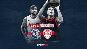Sport24: Αποκλειστική μετάδοση του αγώνα Κολοσσός Ρόδου - Ολυμπιακός